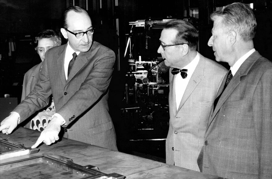 Con Georges Simenon e Ivo Formigli, in tipografia La Nazione
