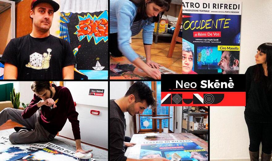 Gli artisti del progettoNeo Skēnḕ - Manifesti d'artista al Teatro di Rifredi