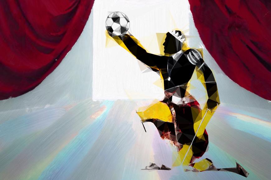 Amleto gioca a calcio - Immagine Clara Bianucci